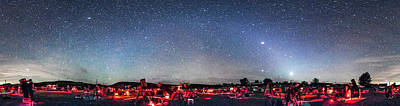 Texas Star Party Panorama At Night Art Print by Alan Dyer