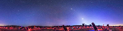 Texas Star Party Panorma At Twilight Print by Alan Dyer