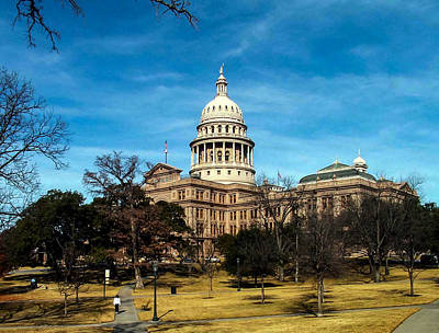 Photograph - Texas State Capitol by Allen Sheffield
