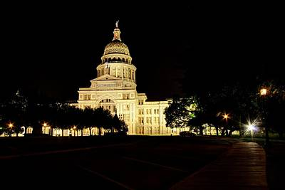 Art Print featuring the photograph Texas State Capitol by Dave Files
