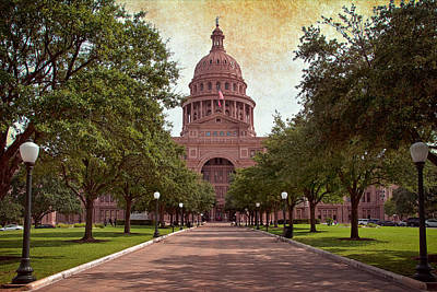 Fluttering Photograph - Texas State Capitol IIi by Joan Carroll