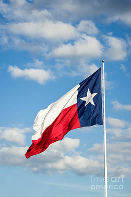 Texas State Flag Waving Art Print