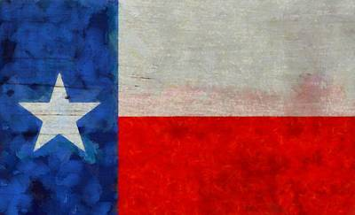 Texas Flag Painting - Texas State Flag Weathered And Worn by Dan Sproul