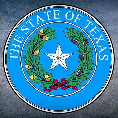 Republic Of Texas Digital Art - Texas State Seal by Movie Poster Prints