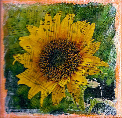 Mixed Media - Texas Sunflower Yellow by Ruby Cross