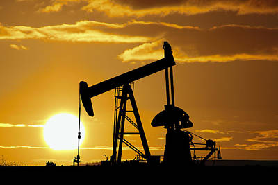 Oil Drilling Photograph - Texas Sunset by Daniel Hagerman