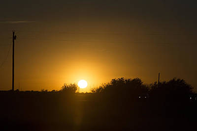 Texas Sunset With Sun Dogs Original by Linda Phelps