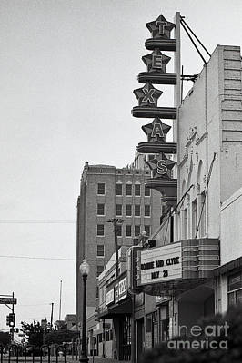 Cliff Lee Photograph - Texas Theatre by Sonja Quintero