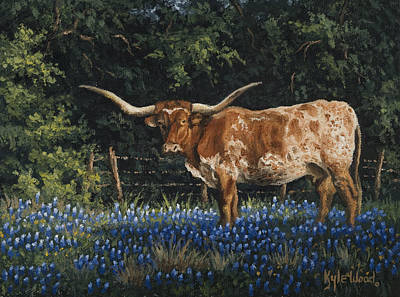 Longhorns Painting - Texas Traditions by Kyle Wood