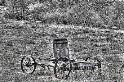 Wagon Photograph - Texas Wagon by Hilton Barlow