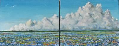 James Taylor Painting - Bluebonnet Storm by James Taylor