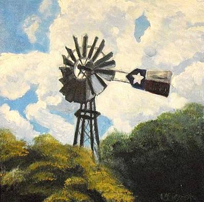 Texas Windmill Art Print