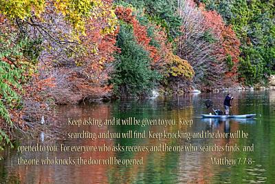Bull Creek Photograph - Texas Winter Colors Mat. 7v7-8 by Linda Phelps