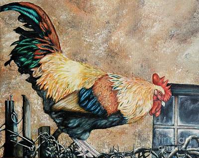 Painting - Texoma Rooster by Amanda Hukill