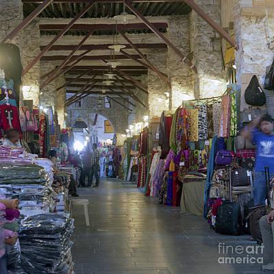 Textile Bazaar Art Print by Paul Cowan