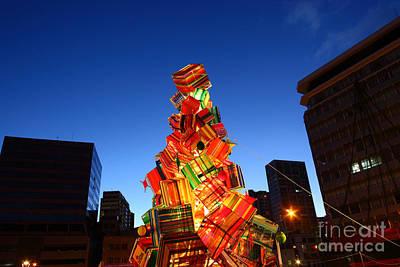 Textile Christmas Tree In La Paz Art Print by James Brunker