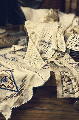 Photograph - Textile Collection by Heather Applegate