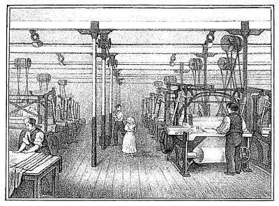 Textile Manufacture, C1836 Art Print by Granger