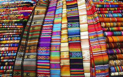 Photograph - Textile Market Otavalo Ecuador by Kurt Van Wagner