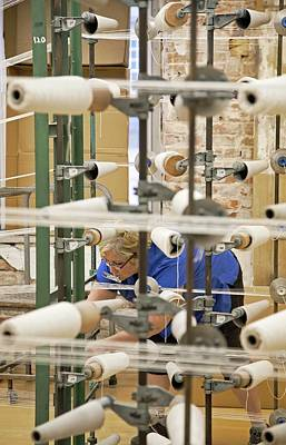 Bobbin Photograph - Textile Mill Warping Creel by Jim West