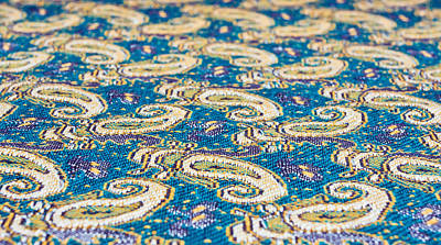 Table Cloth Photograph - Textile Pattern by Tom Gowanlock