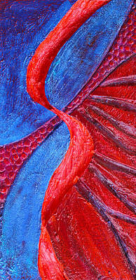 Mixed Media - Texture And Color Bas-relief Sculpture #3 by Karen Cade