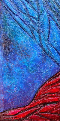 Mixed Media - Texture And Color Bas-relief Sculpture #5 by Karen Cade