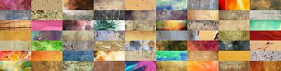 Postmodern Digital Art - Texture Collage by Taylan Apukovska
