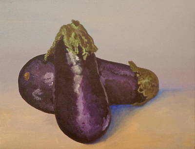 Eggplant Painting - Texture Hungry     II Eggplant II by Fallon Franzen