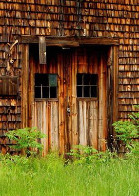 Photograph - Textured Barn Doors by Caroline Stella