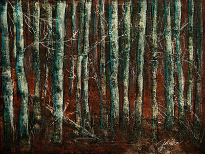 Painting - Textured Birch Forest by Jani Freimann
