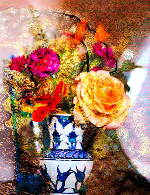 Photograph - Textured Bouquet by Marie Jamieson