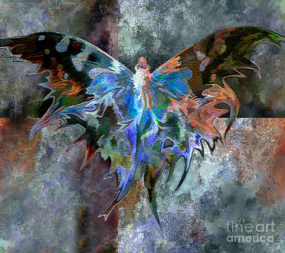 Digital Art - Textured Butterfly  by Ursula Freer