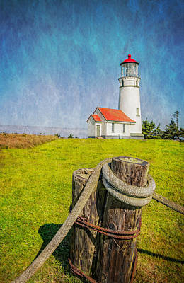 Photograph - Cape Blanco Lighthouse Textured Image by James Hammond