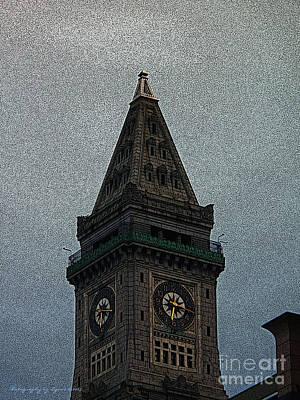 Photograph - Textured Church Steeple  by Gena Weiser