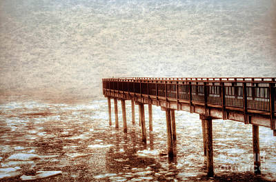 Photograph - Textured Gallagher Winter Dock by Jim Lepard