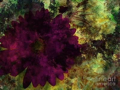 Digital Art - Textured Flora by Ankeeta Bansal