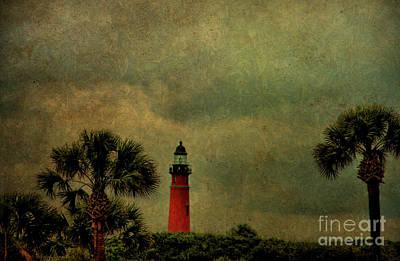 Ponce Photograph - Textured Lighthouse by Deborah Benoit
