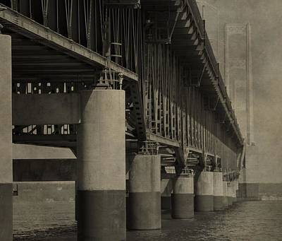 Photograph - Textured Mackinac Bridge by Dan Sproul