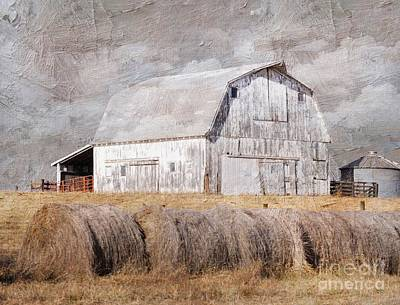 Photograph - Textured Missouri Barn  by Liane Wright
