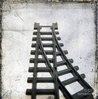 Train Tracks Photograph - Textured Railway by Bernard Jaubert