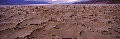 Salt Flat Images Photograph - Textured Salt Flats, Death Valley by Panoramic Images