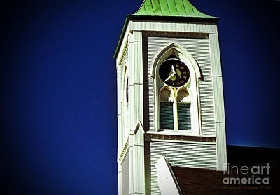 Photograph - Textured Steeple Clock by Gena Weiser