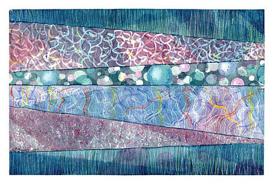 Painting - Textured Strata by Melinda Fawver