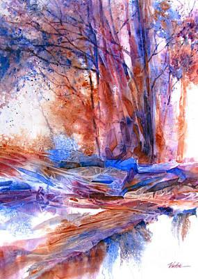 Spray Painting - Textured Trees by Wendy Westlake