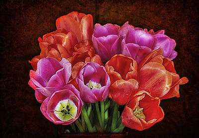 Photograph - Textured Tulips by Ray Still