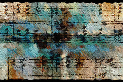 Art Print featuring the digital art Textured Turquoise by Lon Chaffin