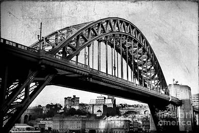Northeast Mixed Media - Textured Tyne Bridge by Ray Pritchard