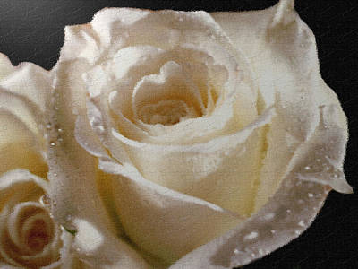 Painting - Textured White Rose by Dennis Buckman