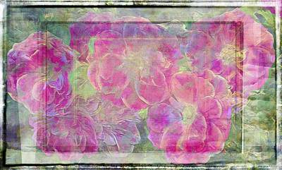 Photograph - Textures Of Pink Roses by Alice Gipson